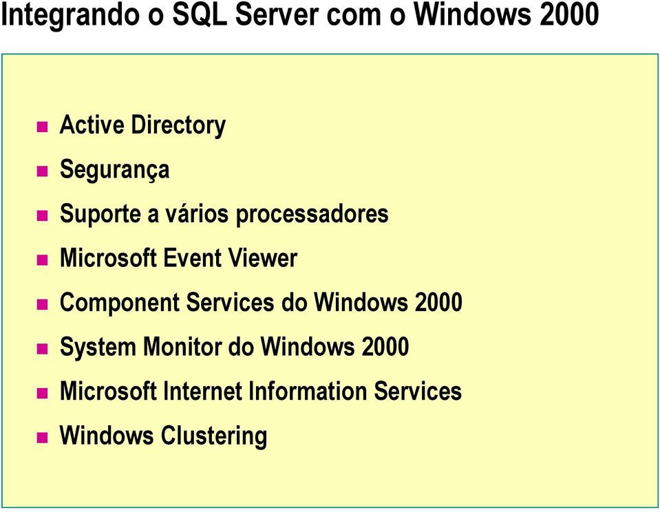 Viewer Component Services do Windows 2000 System Monitor do
