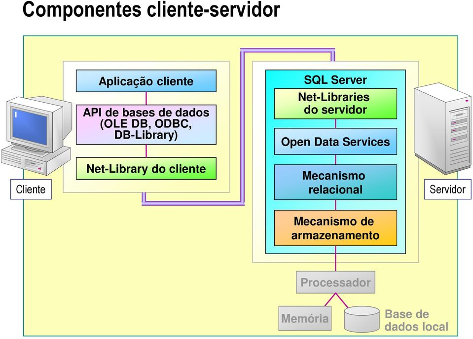 Open Data Services Cliente Net-Library do cliente Mecanismo