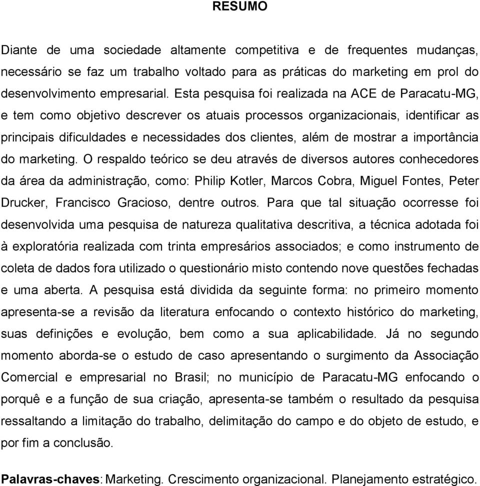 mostrar a importância do marketing.