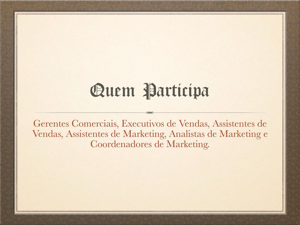 Vendas, Assistentes de Marketing,