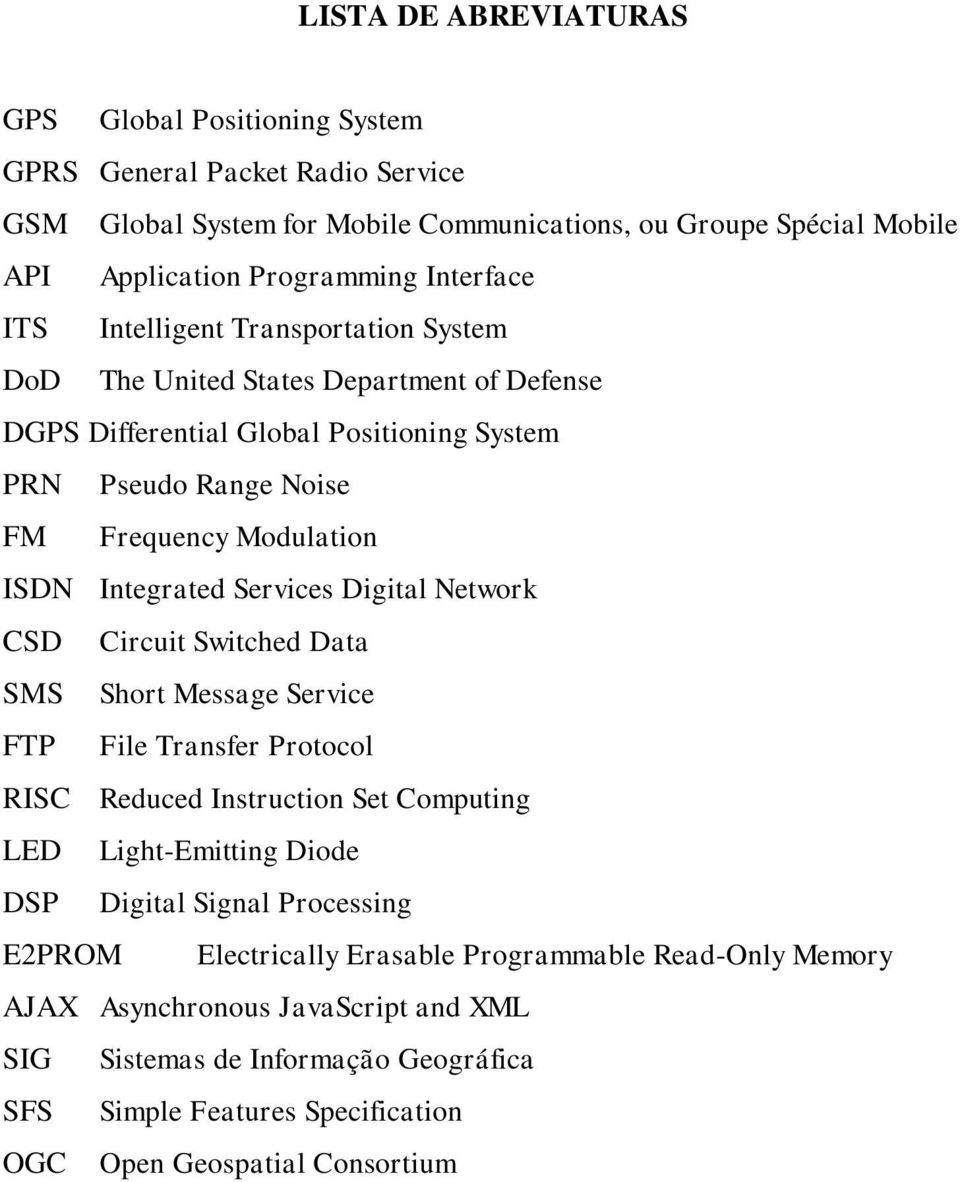 Services Digital Network CSD Circuit Switched Data SMS Short Message Service FTP File Transfer Protocol RISC Reduced Instruction Set Computing LED Light-Emitting Diode DSP Digital Signal