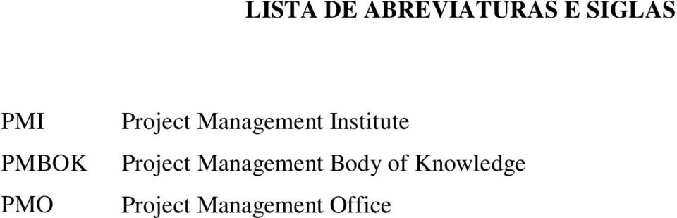 Institute Project Management Body