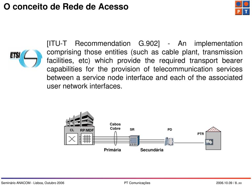 the required transport bearer capabilities for the provision of telecommunication services between a service node