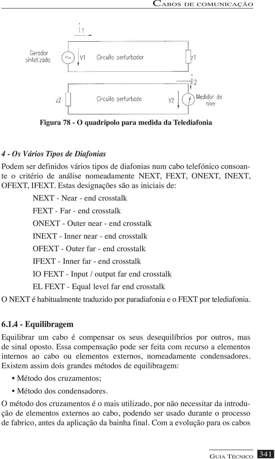 Estas designações são as iniciais de: NEXT - Near - end crosstalk FEXT - Far - end crosstalk ONEXT - Outer near - end crosstalk INEXT - Inner near - end crosstalk OFEXT - Outer far - end crosstalk