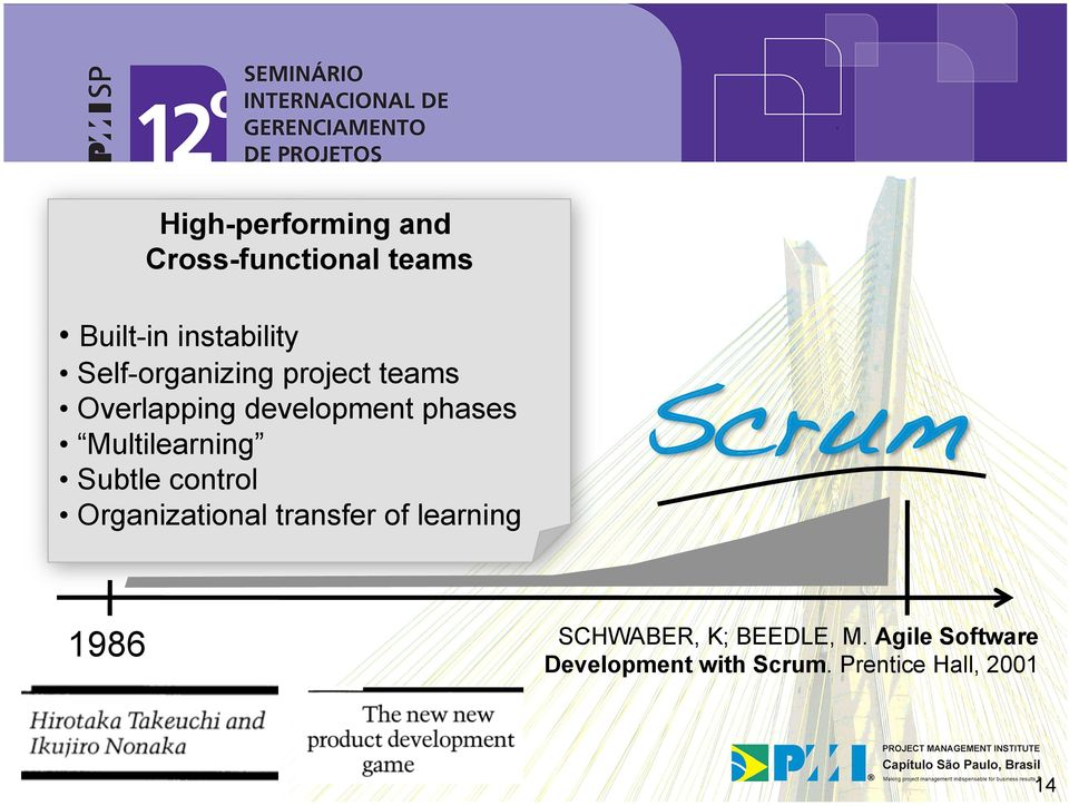 Multilearning Subtle control Organizational transfer of learning Scrum!