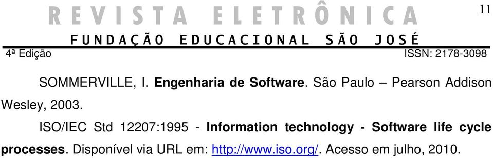 ISO/IEC Std 12207:1995 - Information technology -