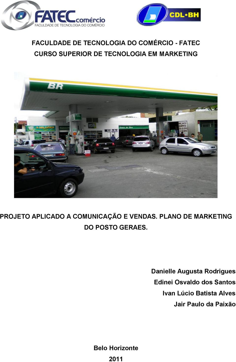 PLANO DE MARKETING DO POSTO GERAES.