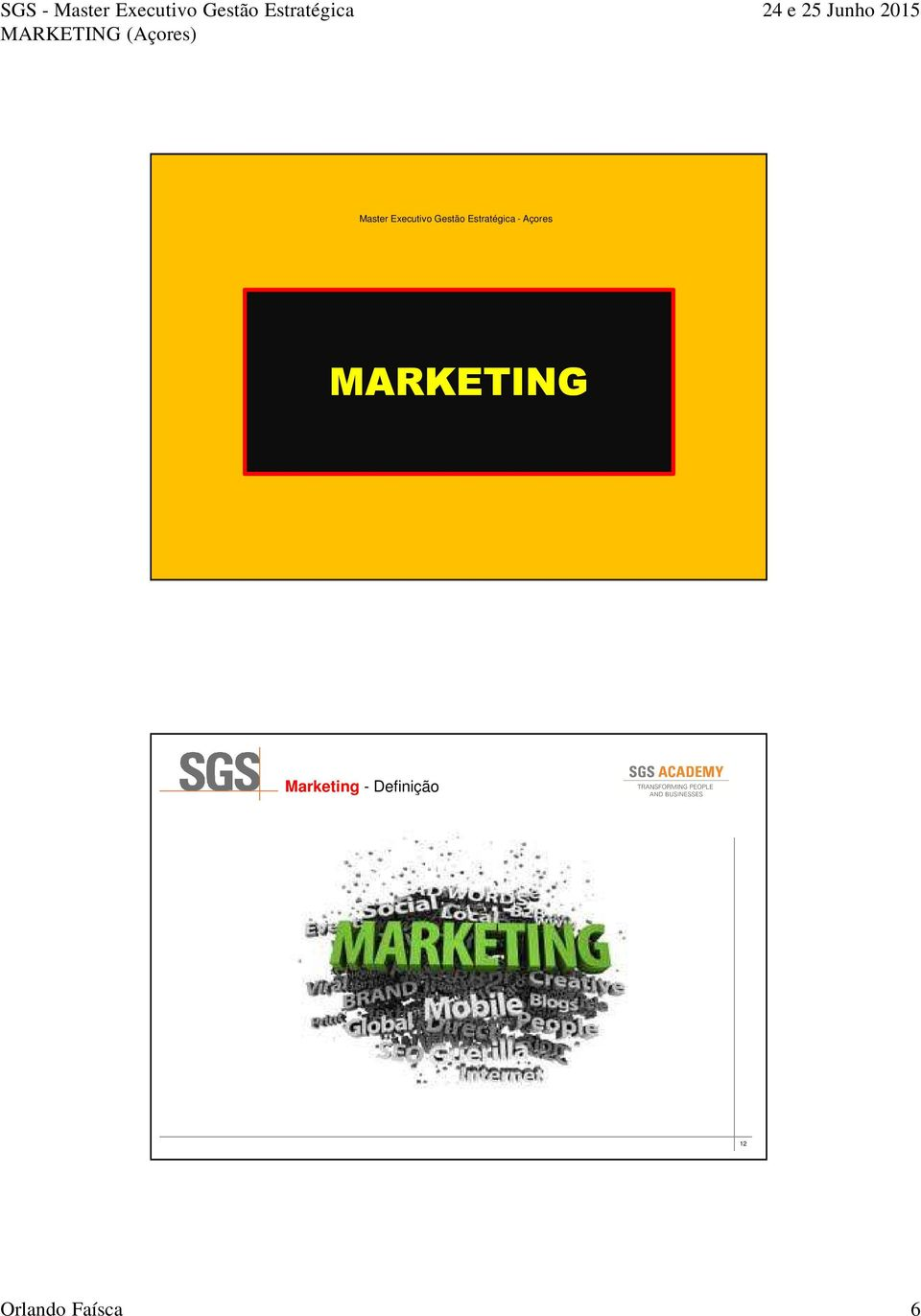 MARKETING 11 Marketing -