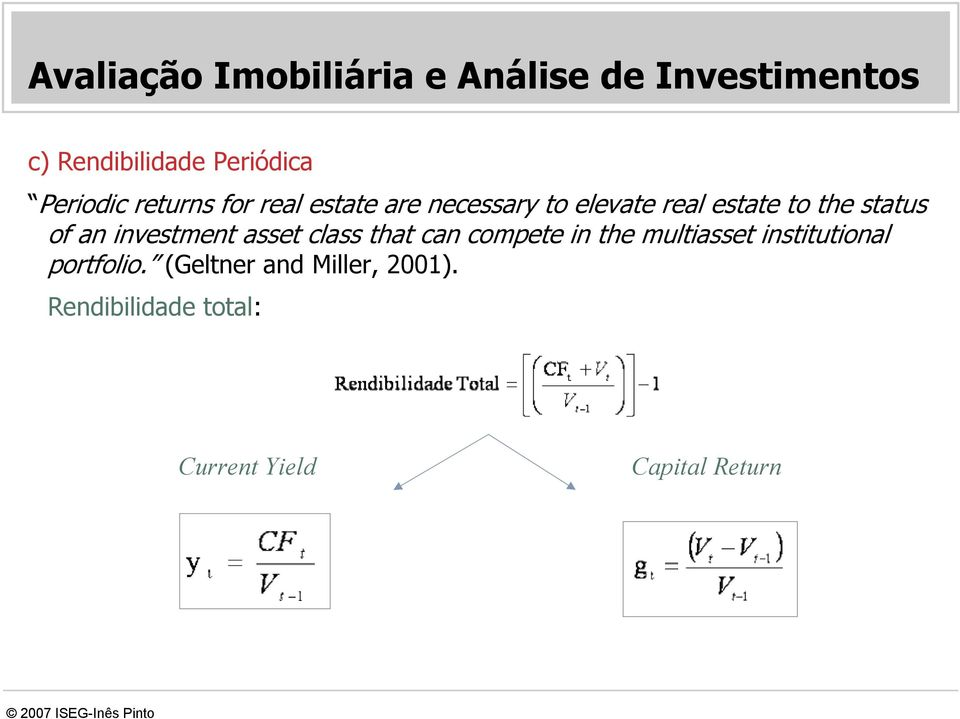 status of an investment asset class that can compete in the multiasset