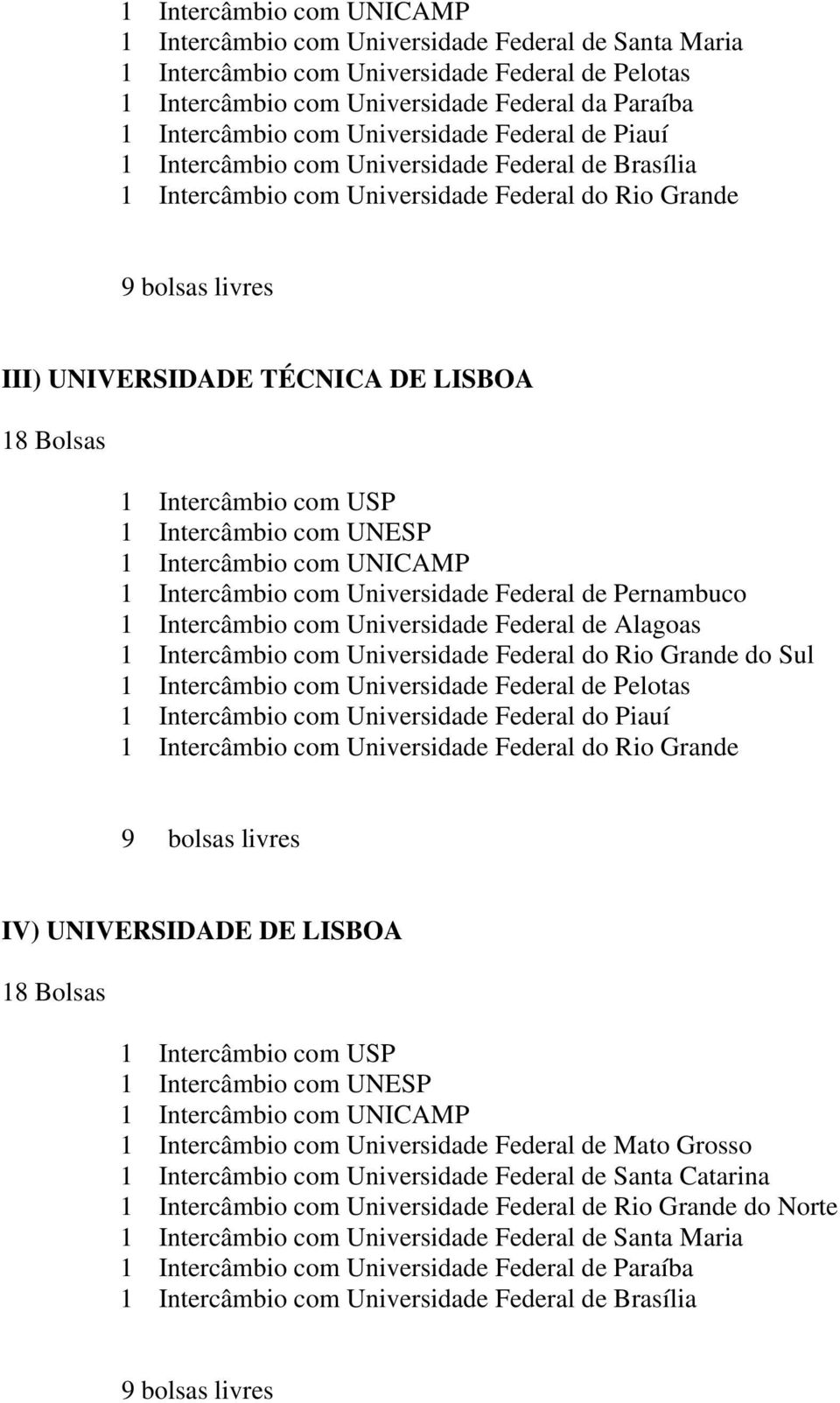 Intercâmbio com UNICAMP 1 Intercâmbio com Universidade Federal de Pernambuco 1 Intercâmbio com Universidade Federal de Alagoas 1 Intercâmbio com Universidade Federal do Rio Grande do Sul 1