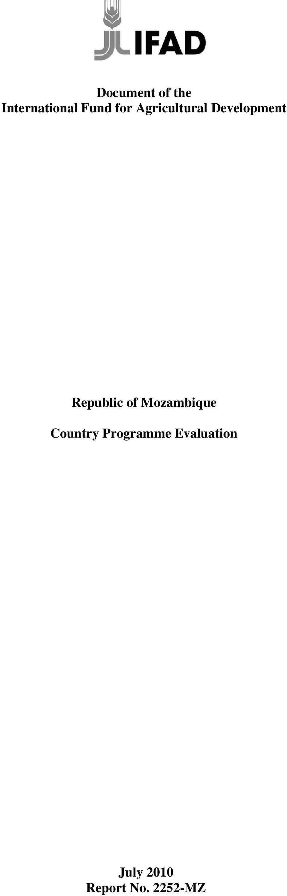 Republic of Mozambique Country