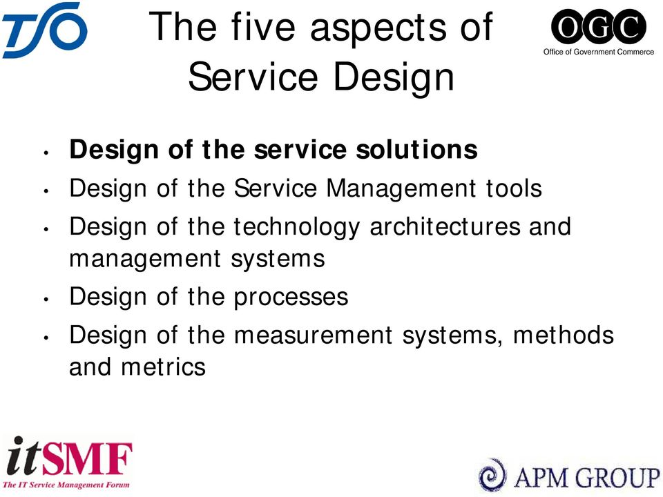 the technology architectures and management systems Design of