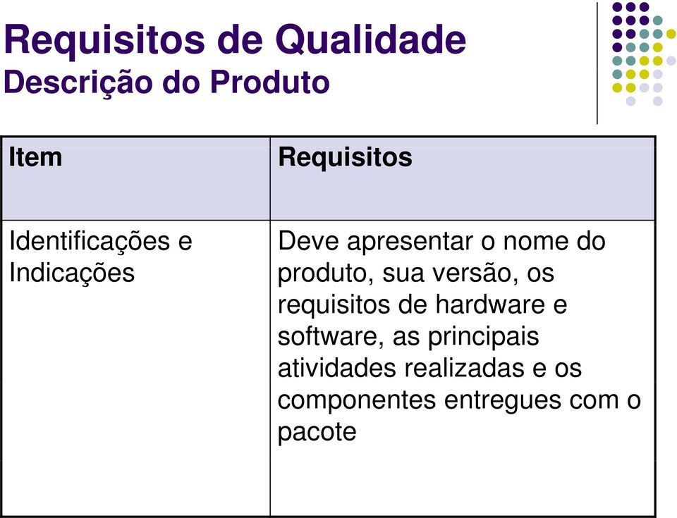 versão, os requisitos de hardware e software, as