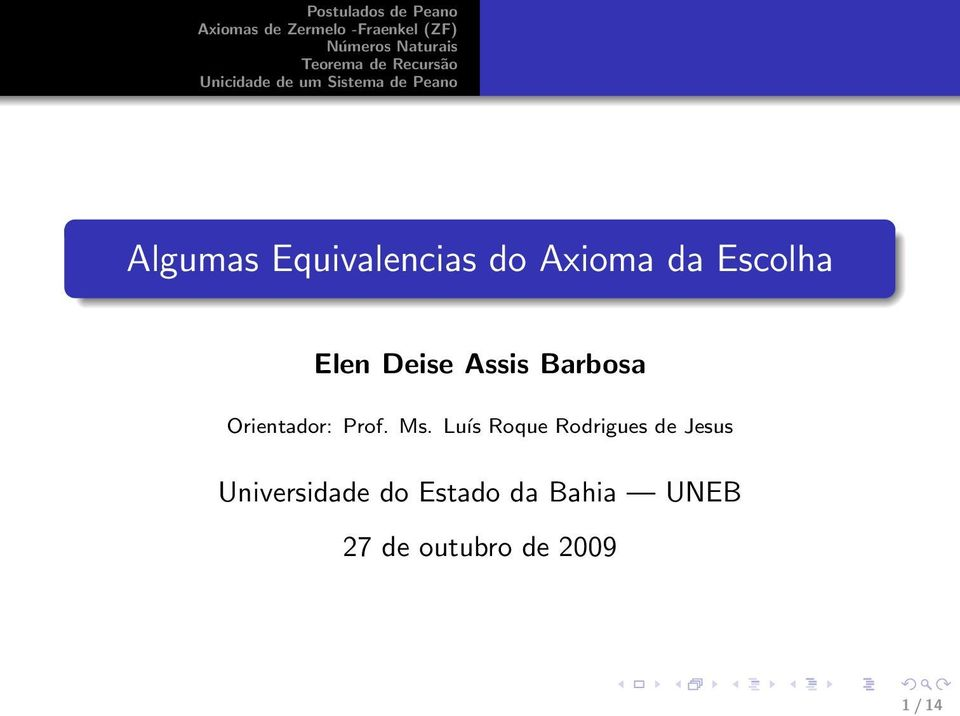 Luís Roque Rodrigues de Jesus Universidade do