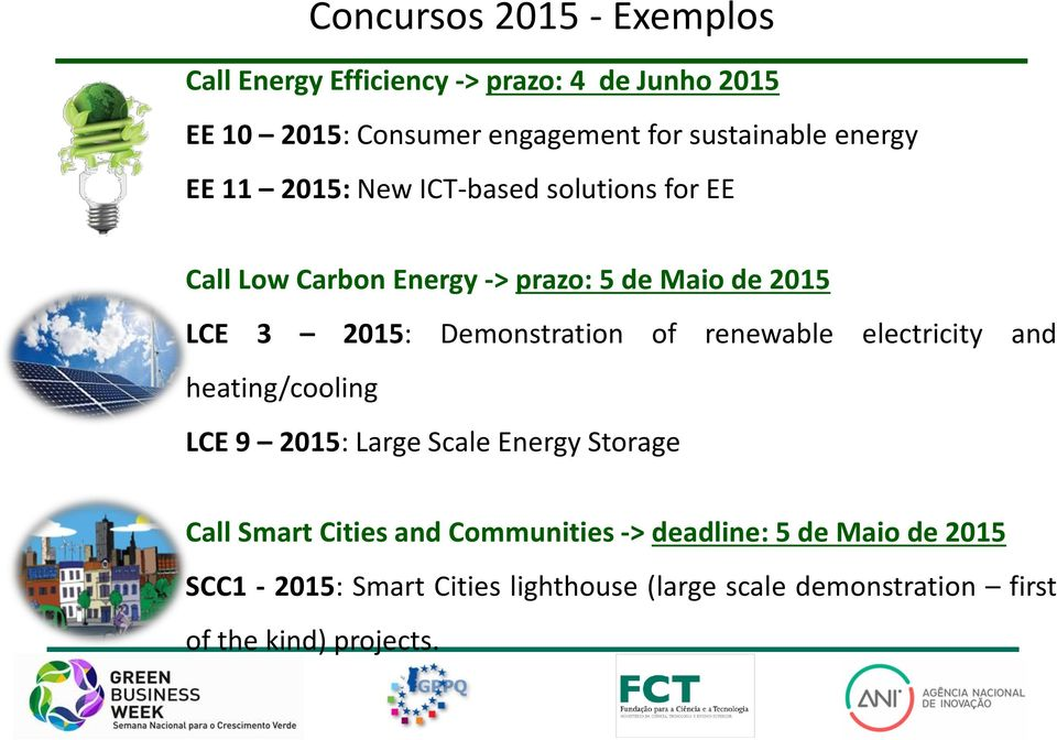 Demonstration of renewable electricity and heating/cooling LCE 9 2015: Large Scale Energy Storage Call Smart Cities and
