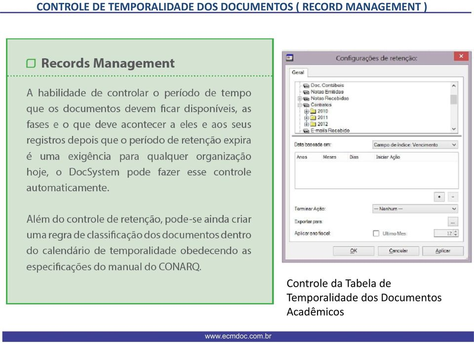 MANAGEMENT ) Cntrle da Tabela