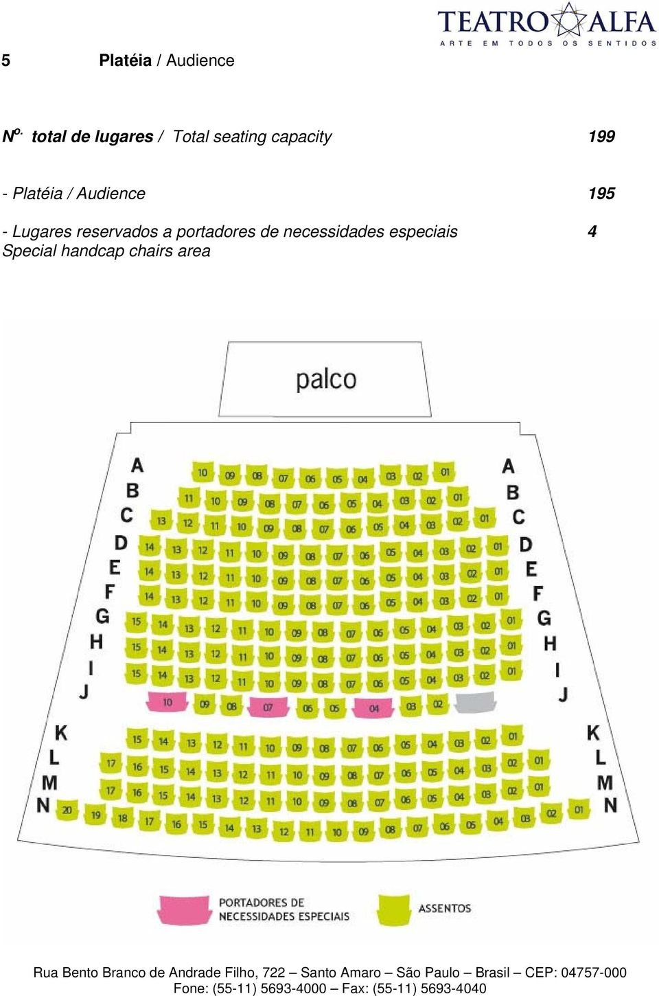 - Platéia / Audience 195 - Lugares reservados