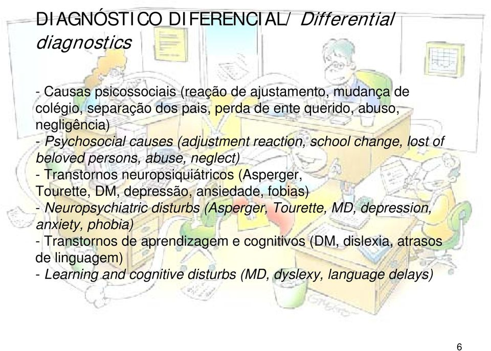 neuropsiquiátricos (Asperger, Tourette, DM, depressão, ansiedade, fobias) - Neuropsychiatric disturbs (Asperger, Tourette, MD, depression, anxiety,