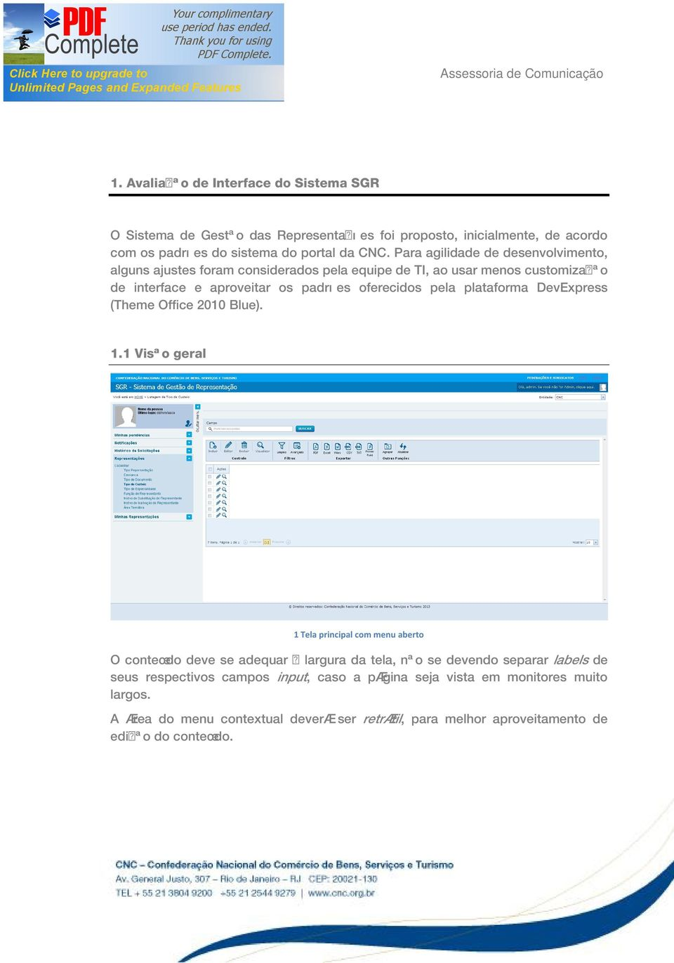 plataforma DevExpress (Theme Office 2010 Blue). 1.