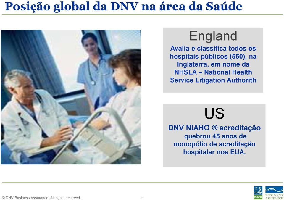 National Health Service Litigation Authorith US DNV NIAHO