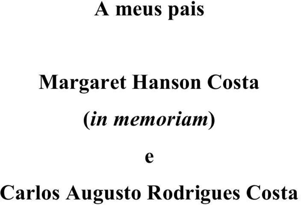 Costa (in memoriam)