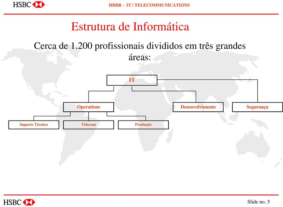 grandes áreas: IT Operations