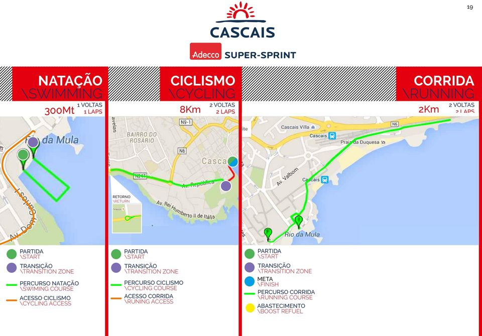 \TRANSITION ZONE PERCURSO NATAÇÃO \SWIMING COURSE PERCURSO CICLISMO \CYCLING COURSE ACESSO CORRIDA \RUNING ACCESS