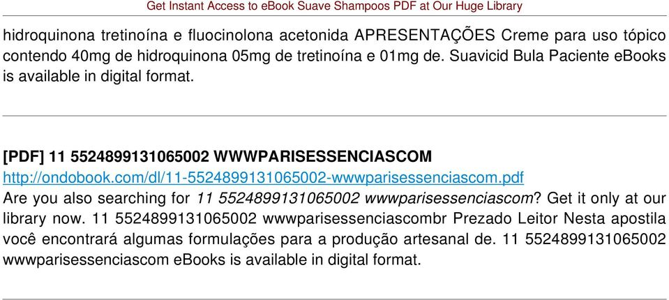 com/dl/11-5524899131065002-wwwparisessenciascom.pdf Are you also searching for 11 5524899131065002 wwwparisessenciascom? Get it only at our library now.