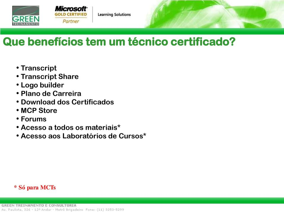 Carreira Download dos Certificados MCP Store Forums