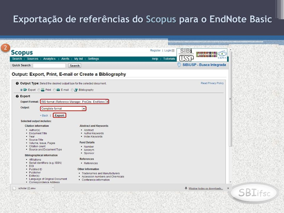 do Scopus para