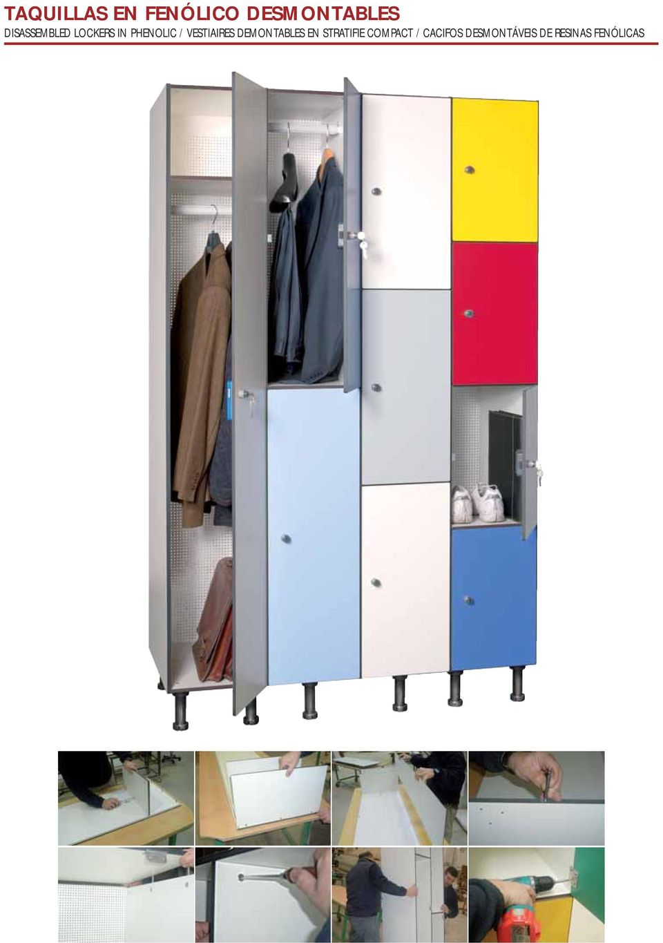 VESTIAIRES DEMONTABLES EN STRATIFIE
