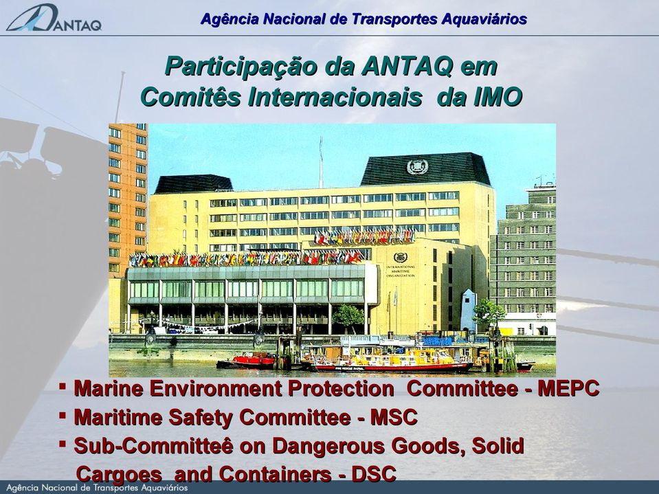 Maritime Safety Committee - MSC Sub-Committeê on