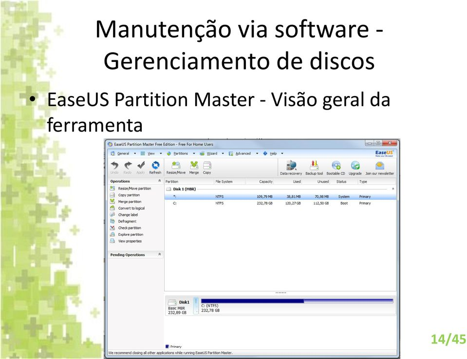 EaseUS Partition Master -