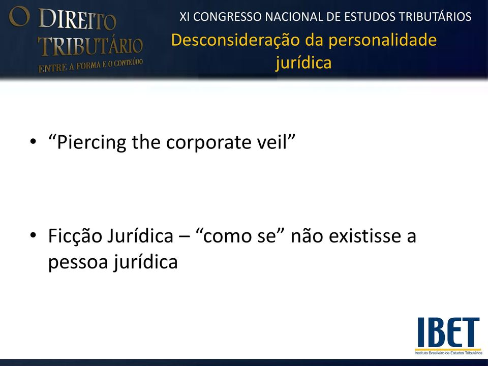 the corporate veil Ficção