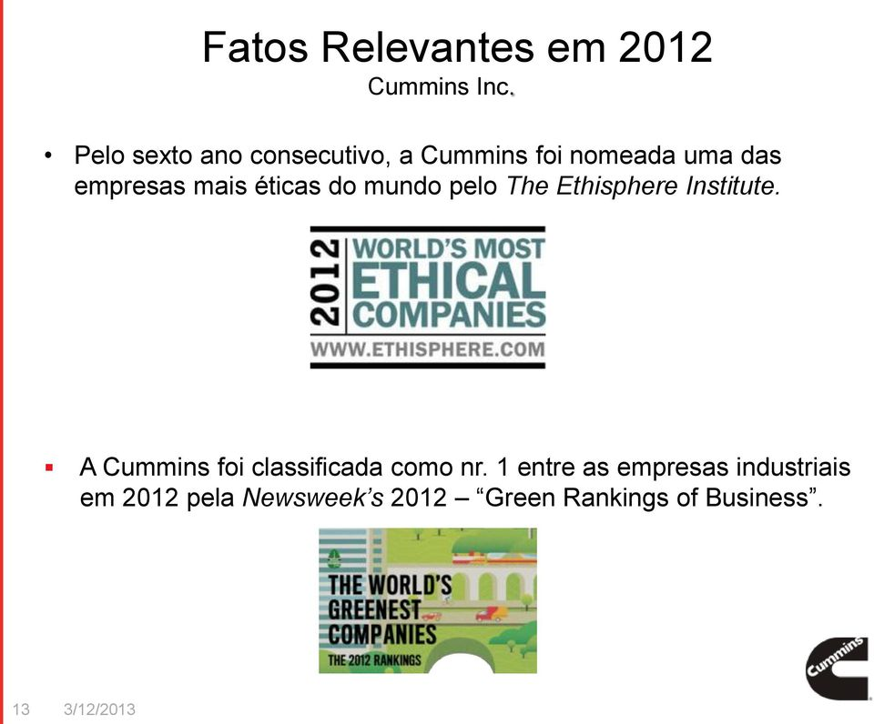 éticas do mundo pelo The Ethisphere Institute.
