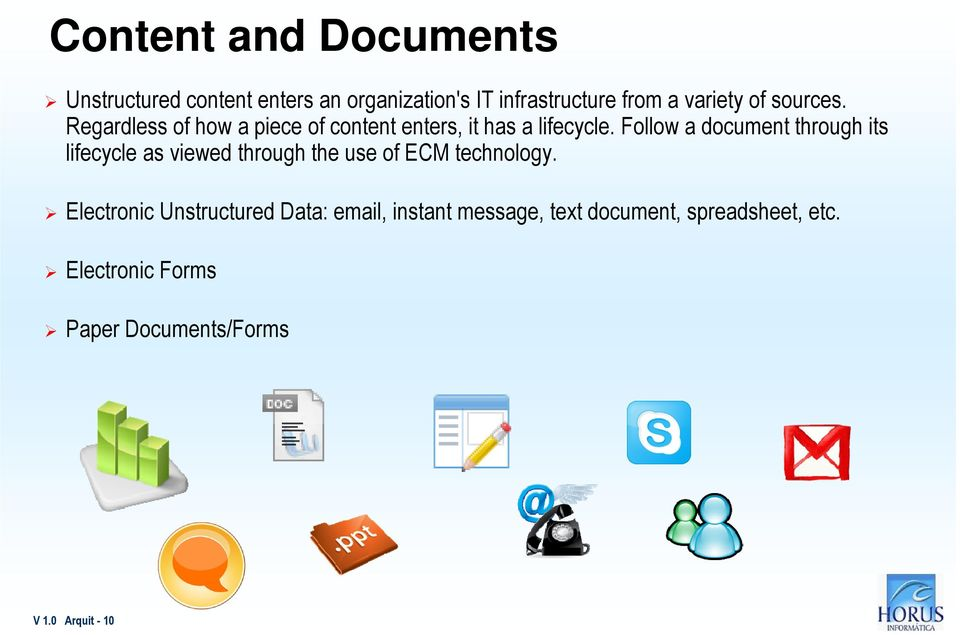 Follow a document through its lifecycle as viewed through the use of ECM technology.