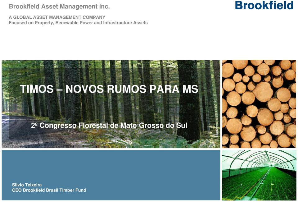 Renewable Power and Infrastructure Assets TIMOS NOVOS RUMOS