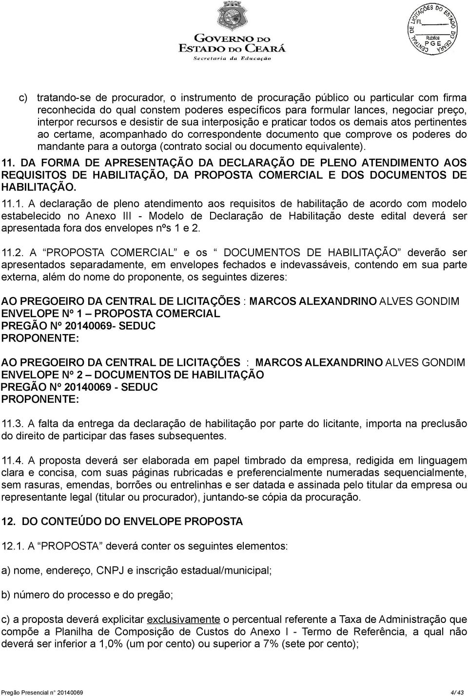 documento equivalente). 11