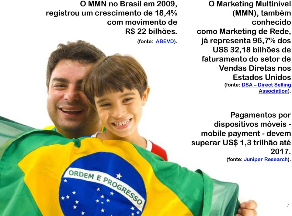 bilhões de faturamento do setor de Vendas Diretas nos Estados Unidos (fonte: DSA Direct Selling Association).