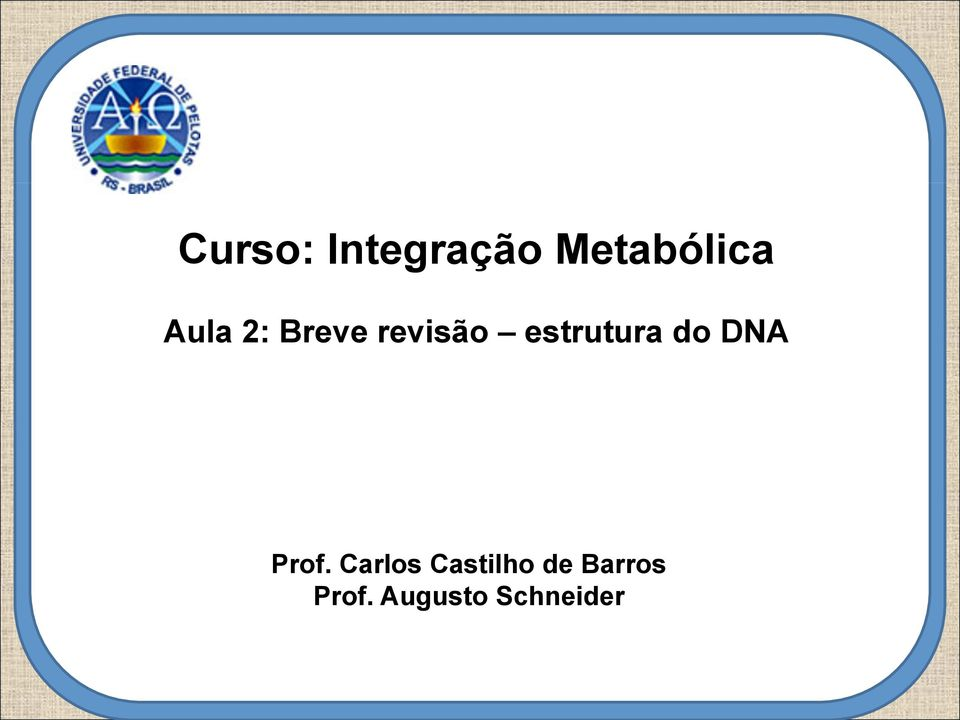 estrutura do DNA Prof.