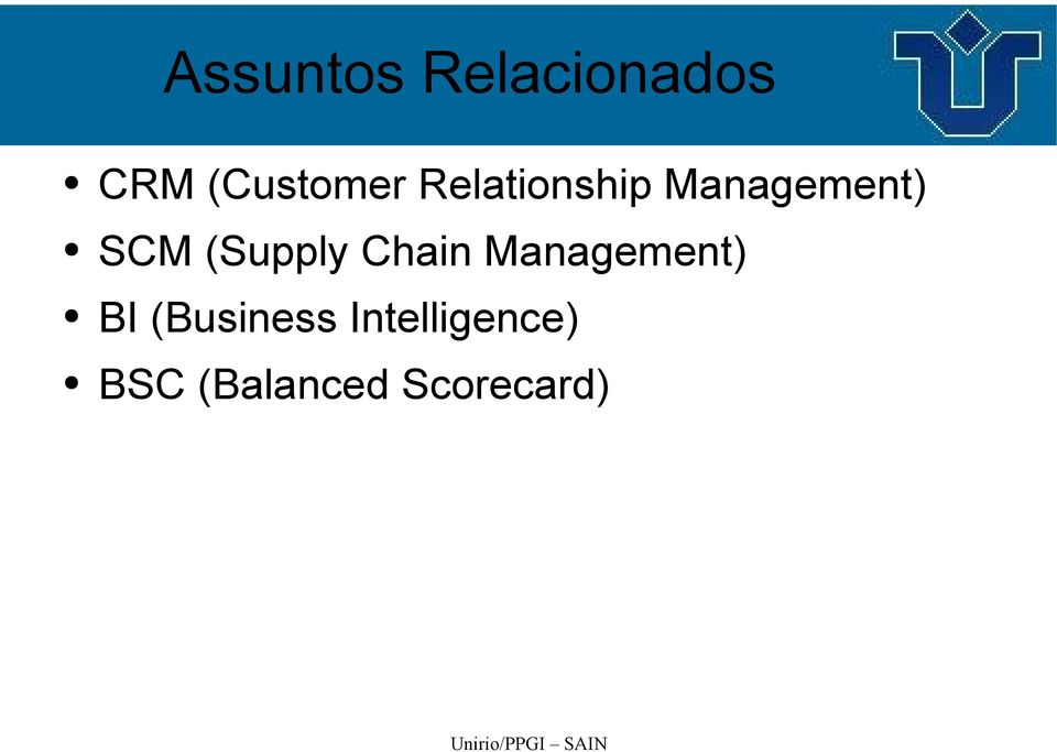 (Supply Chain Management) BI