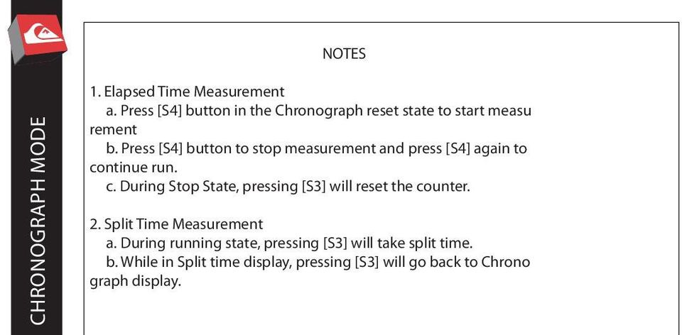 Press [S4] button to stop measurement and press [S4] again to co