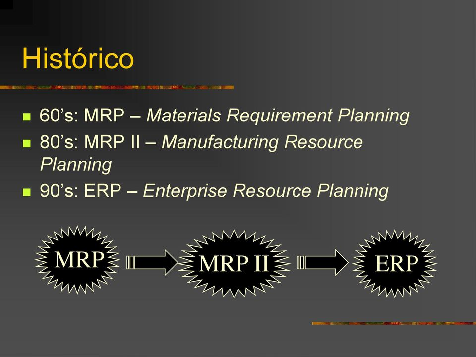 Manufacturing Resource Planning 90 s: