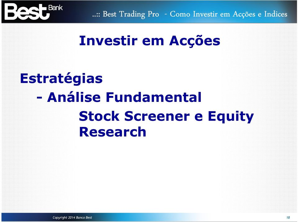 Fundamental Stock Screener e