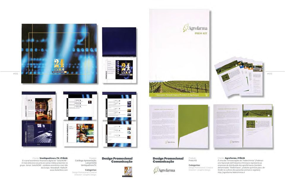 Lançamento Ventiquattrore.TV. Design Promocional \ Creative Direction \ Graphic Design.