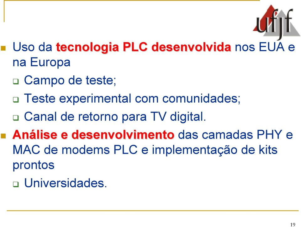 para TV digital.