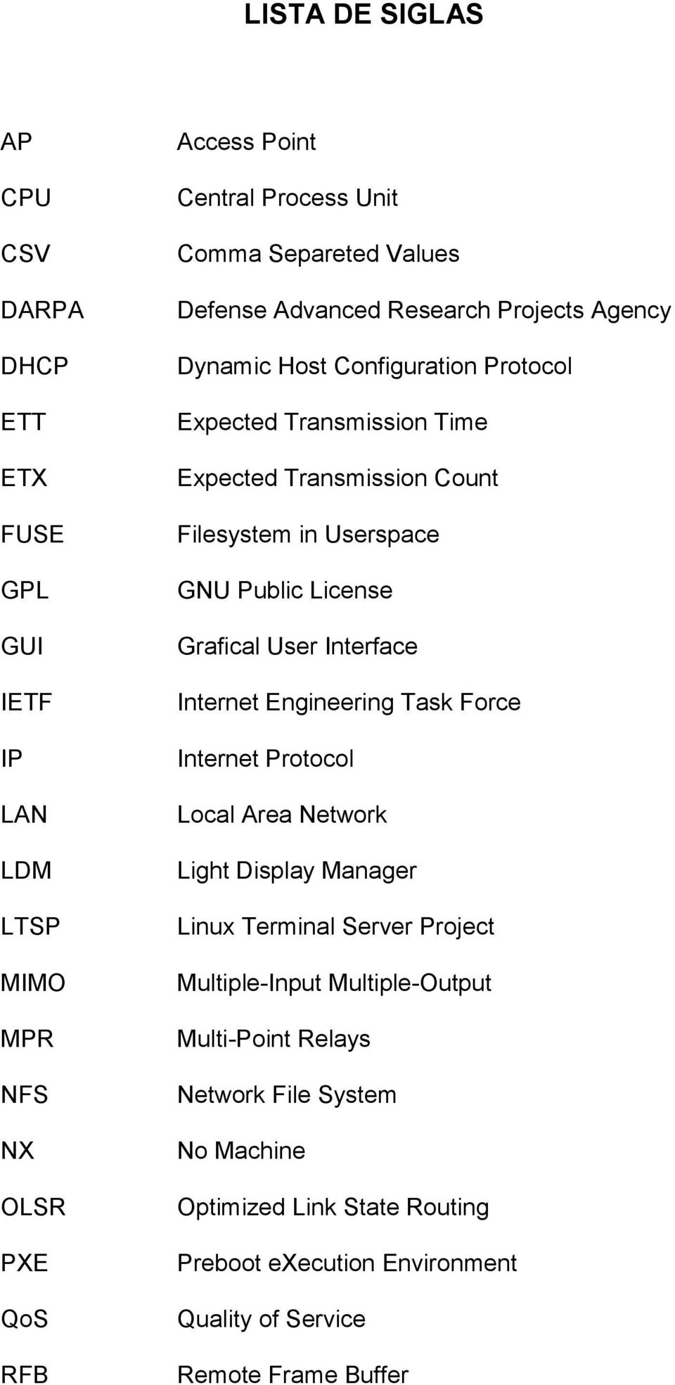 Public License Grafical User Interface Internet Engineering Task Force Internet Protocol Local Area Network Light Display Manager Linux Terminal Server Project
