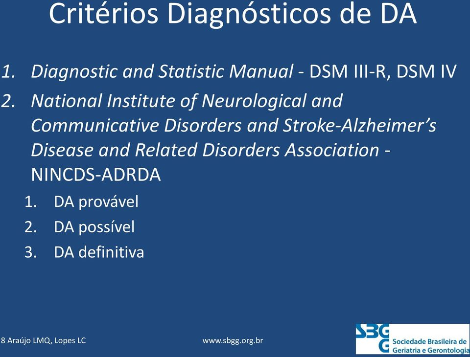 National Institute of Neurological and Communicative Disorders and