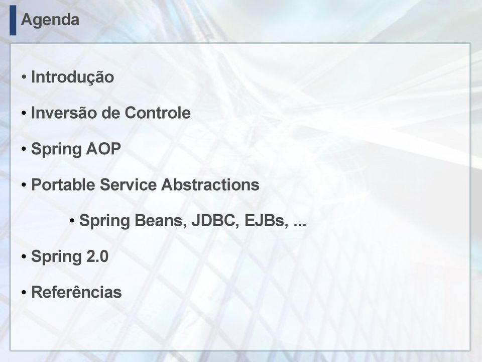 Service Abstractions Spring