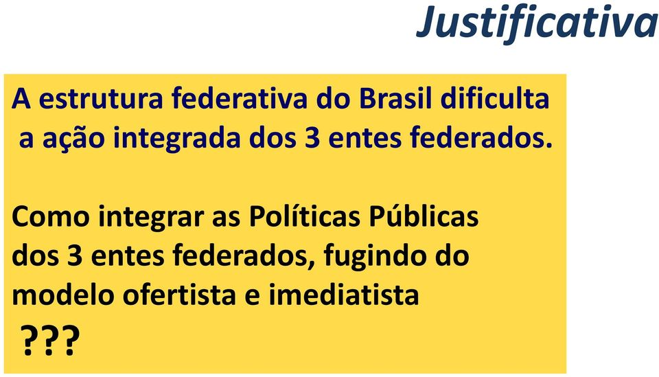 Como integrar as Políticas Públicas dos 3 entes